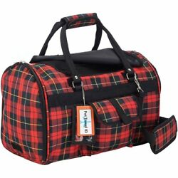 Pet Travel Carrier with Privacy Covers- Soft-Sided - Airline Approved with Side