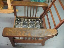 Arts And Crafts Morris Reclining Chair Cast Iron Hardware