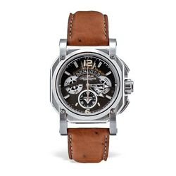 Visconti 2 Squared Chronograph Silver Shadow Stainless Steel Automatic Watch