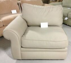 Pottery Barn Pearce Couch Sofa Sectional Piece Sand Twill Left Arm Chair Down