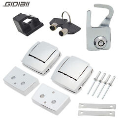 Tour Pak Premium Latches Hardware Lock & Key Kit For Harley Street