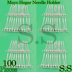 100 Stainless Steel Mayo Hegar Needle Holder 7 Surgical Instruments