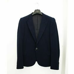 New Lanvin Navy Blue Blazer Jacket With Bemberg Lining Size 50 Bnwt Rrp Andpound2155