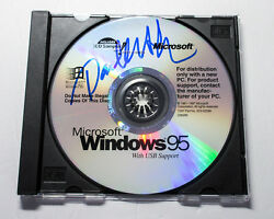 Paul Allen Signed Microsoft Window 95 Software CD EXACT Proof COA Bill Gates