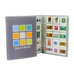 Stamp Collection Kit/album W/ 10 Pages Holds 150-300 Stamps