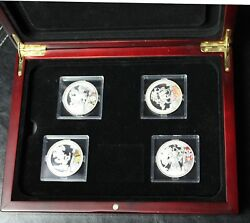 China Beijing 2008 Summer Olympic Games Commemorative Silver Coin 4 Pcs