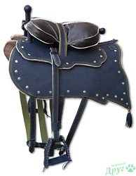 Horse Saddle Leather Riding Equestrian Pony Equitation Seat Standard Size New