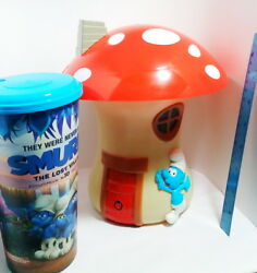 Smurfs The Lost Village Cup And Popcorn Bucket Set 2017 Movie Collectible Thailand