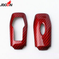 Red Carbon Fiber Remote Smart Key Case Shell For Ford Mustang Ford Explorer 2017