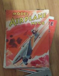 Near Mint Model Airplane News Magazine 91 Issues Dating From 1936-1946