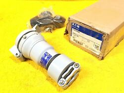 EATON CROUSE HINDS CRC3034BC 30 AMP 600 VOLT 3W 4P PIN & SLEEVE FEMALE CONNECTOR