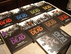 The Walking Dead Vol 1-9 Hardcover Graphic Novel Book Lot