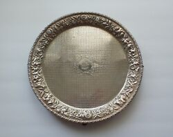 Kirk Repousse Sterling Silver 12 Footed Tray C. 1896-1924 675 Grams