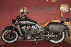 Italian Leather Sioux Left Side Saddlebag Fits Indian Scout Motorcycle