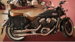 Italian Leather Sioux Right Side Saddlebag Fits Indian Scout Motorcycle