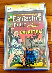 Fantastic Four #48 1966 1st Silver Surfer and Galactus Signed Stan Lee CGC 6.5!