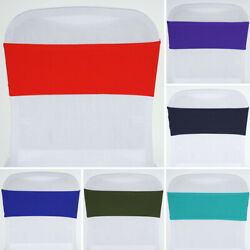 200 Wholesale Spandex Stretchable Chair Sashes Ties Wraps Wedding Party Supply