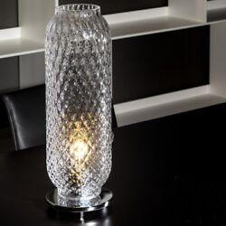 Brand New Palloton Style Murano Glass Table Lamp By Mazzega 1946. Made In Italy.