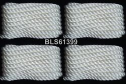 4 White Twisted 3/8 In X 25and039 Ft Boat Marine Dock Lines Mooring Docking Ropes
