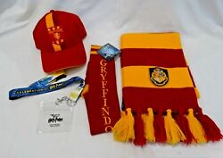 Universal Studios Gryffindor Scarf And Ball Cap And Socks + Harry Potter Lanyard