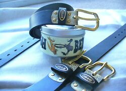 GENUINE LEATHER HANDCRAFTED TOUGH BELT WITH SOLID BRASS BUCKLE AND KEY RING