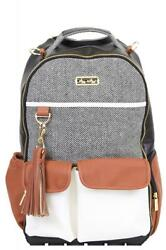 Itzy Ritzy Boss Backpack Diaper Bag in Coffee and Cream