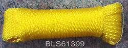 Yellow Hollow Braided 1/4 In X 100' Ft Boat Marine Utility Line Tie-down Rope