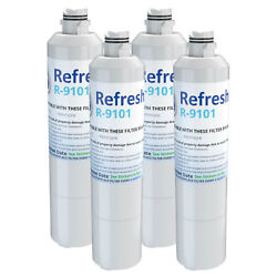 Refresh Replacement Water Filter - Fits Samsung Rs261mdrs Refrigerators 4 Pack