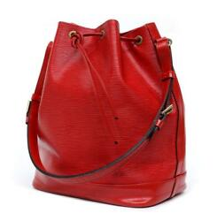 Louis Vuitton 'Noe GM' Red EPI Leather Bucket Bag