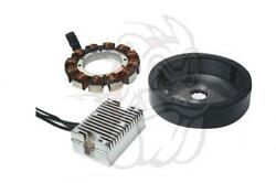 Spyke Complete 32 Amp Charging System W/ Heavy Duty Rotor 1970-99 H-d Big Twin