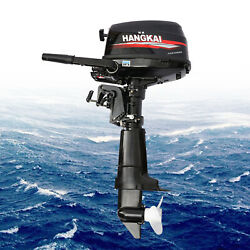 Outboard Motor 4-stroke 6.5hp Fishing Boat Engine Water Cooling System Hangkai