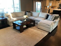 Pottery Barn 4-piece Upholstered Sectional With Chaise