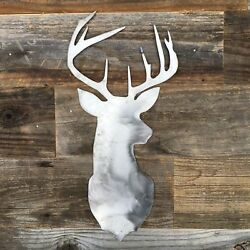 Rustic Deer Head Sign, Farmhouse, Metal Words, Kitchen Wall Decor Sign