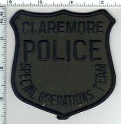 Claremore Police Oklahoma Subdued Special Operations Team Shoulder Patch