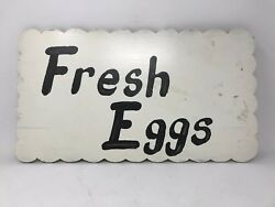 Vintage Fresh Eggs Wood Sign Country Farmhouse Chic Sign RAISING CHICKENS