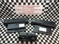 Dell E‑port Replicator Pr02x Docking Station 2 Dock And 1 Power Supply Lot Of 3