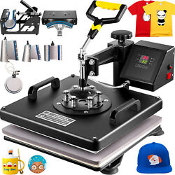 8 In 1 Heat Press Machine 15x15 Combo Kit Transfer Sublimation For T-shirts