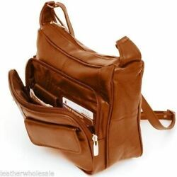 Women#x27;s Leather Organizer Purse Shoulder Bag Multiple Pockets Cross Body Handbag $29.99