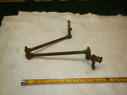 Antique Victorian Brass Sconce And Shade 1900s Gas Light Fixture