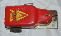 1940's Nylint Toys Pressed Steel Mechanical Lift Truck Wind-up Toy Fork Lift