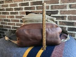 VINTAGE 1980's 1000 DENIER CORDURA CANVAS & LEATHER BACKPACK RUCKSACK BAG R$448