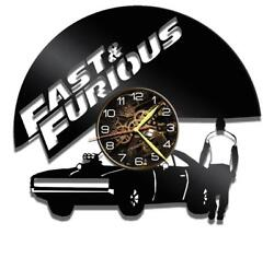 Fast Furious Watch Vinyl Record Wall Clock Living Room Home Decor Art Gift Idea