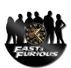 Fast Furious-2 Watch Vinyl Record Wall Clock Living Room Home Decor Gift Idea