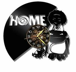 Home Watch Vinyl Record Wall Clock Living Room Home Decor Art Gift Idea New