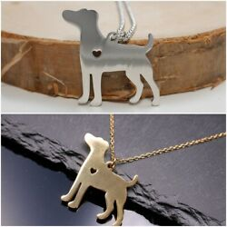 Necklace with Jack Russel Pendant - Dog - Terrier - Dog - Silver Gold