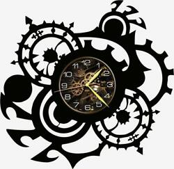 Gears Watch Vinyl Record Wall Clock Living Room Home Decor Art Gift Idea New