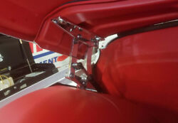 And03967-and03972 C10 Billet Hood Hinges For Lowered Trucks - Machined Finish