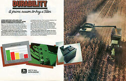 1984 John Deere 8820 Titan Combine And Tractor 2 Page Print Ad