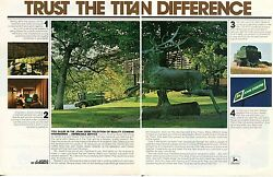 1980 John Deere Factory Assembly Line 8820 And 7721 Titan Combine Farm Tractor Ad