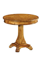 Hampton Walnut Pedestal Table With Lion Feet Antique Reproduction New H3068